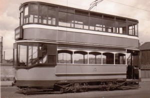 Glasgow tram 488 newly overhauled, 28th June 1960