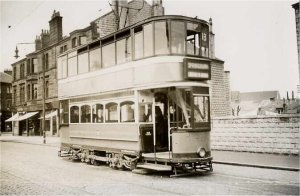 Burnside Terminus - Tram 488 ex works on 17 May 1947